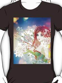 Woman with Spring Flowers T-Shirt