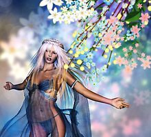 Woman with Spring Flowers 2 by AnnArtshock