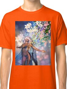 Woman with Spring Flowers 2 Classic T-Shirt