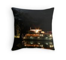 Murray River Boating Throw Pillow