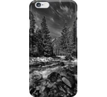 Little Cottonwood River in Black and White iPhone Case/Skin