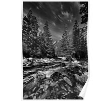 Little Cottonwood River in Black and White Poster
