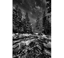Little Cottonwood River in Black and White Photographic Print