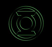 Embossed Green Lantern Symbol by Ak00Exia