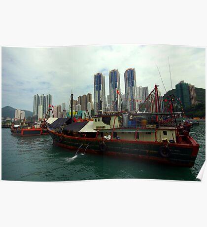 Aberdeen Harbor, Hong Kong. Poster