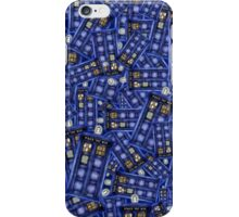 Blue Phone box doctor Pattern iPhone Case/Skin