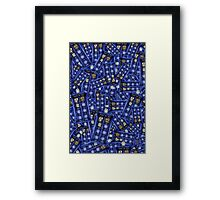 British Blue Phone box Pattern Framed Print