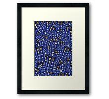 Blue Phone box doctor Pattern Framed Print