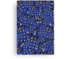 British Blue Phone box Pattern Canvas Print