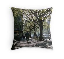 Collins street East Russell Street at c 7.30 19611000 0000 Throw Pillow