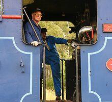 Ravenshoe Steam Train Series - The Drivers by Caroline Angell