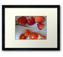 strawberry tomato restaurant decor Framed Print