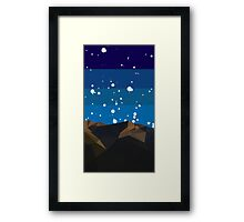 Poly Mountain and Stars Framed Print