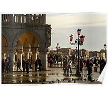 Venice San Marco Acqua Alta Poster