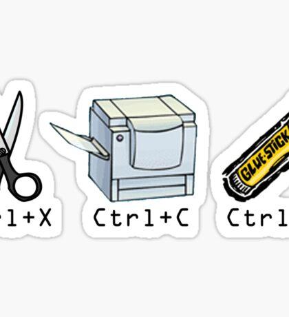 Cut, Copy, Paste Sticker