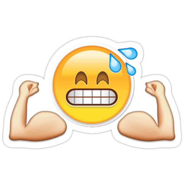 Gym emoji quot stickers by leofab2802 redbubble