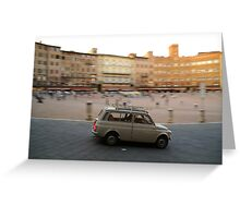 Fiat 500 in Siena Greeting Card