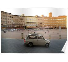 Fiat 500 in Siena Poster