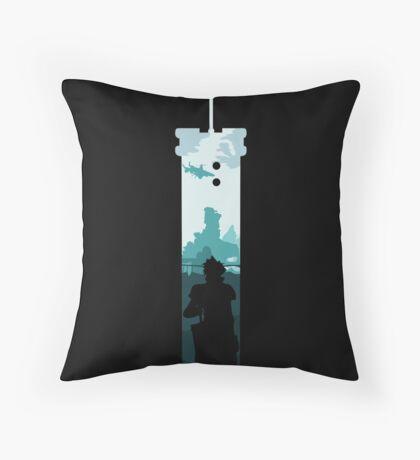Cloud Strife - Buster Sword Throw Pillow