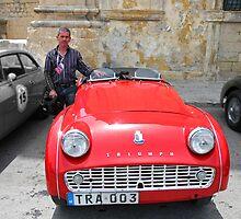 Triumph TR3 by Joseph  borg