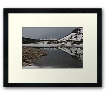 Freezing Reflection Framed Print