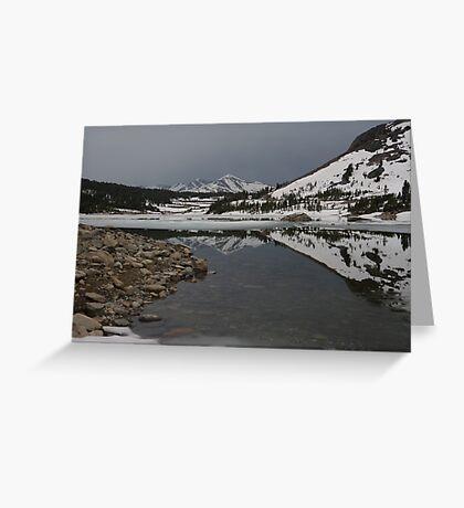 Freezing Reflection Greeting Card