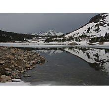 Freezing Reflection Photographic Print
