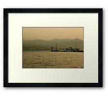 Commuting Izmir Framed Print