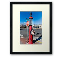Somewhere Between Walk and Dont Walk Framed Print