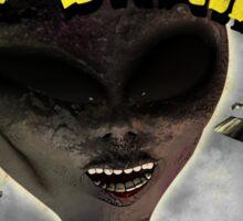 Aliens Ate My Brain (Pulp Cover) Sticker