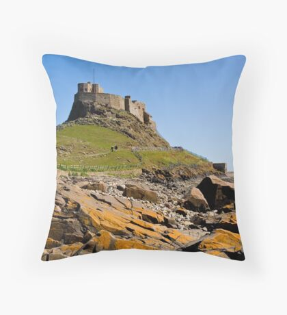 Lindisfarne Castle Throw Pillow