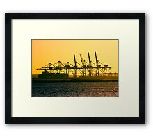 Sitting On The Dock Of The Bay! Framed Print