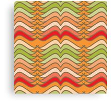 Wavy Abstract Colorful Stripes Canvas Print