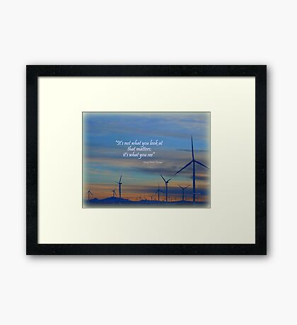 Wind Movers Framed Print