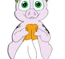 Irish lucky pig by MistyFigs