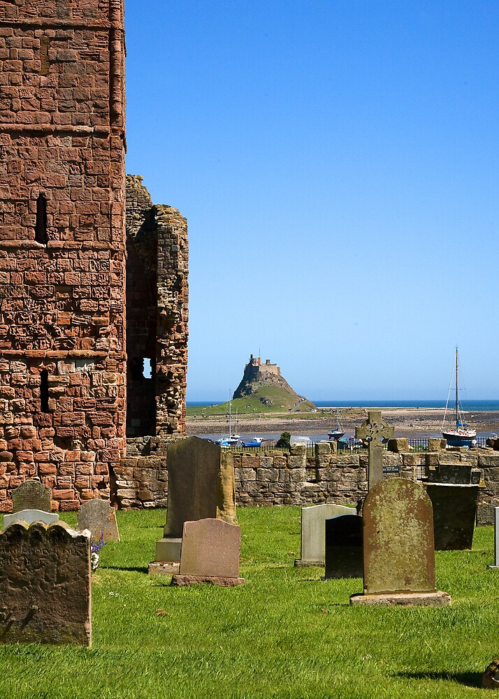 Lindisfarne Castle from the Priory by dsargent
