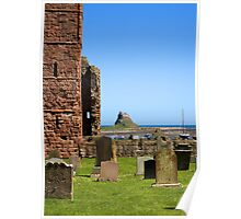 Lindisfarne Castle from the Priory Poster