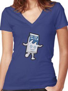 Blur - Milky Women's Fitted V-Neck T-Shirt