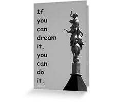 Sculpture Of Dreams Greeting Card