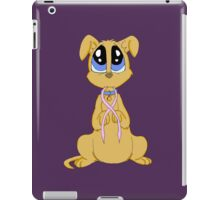 Breast cancer puppy iPad Case/Skin