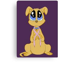 Breast cancer puppy Canvas Print