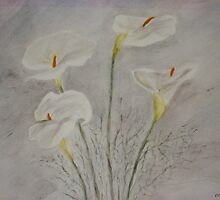 spray of lillies by lphotomad