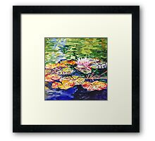 Impressionistic Waterlilies Framed Print