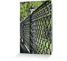 old cast iron fence Greeting Card