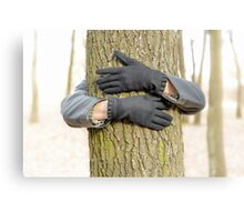 Hugging the Tree Canvas Print
