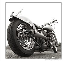 """Harley-Davidson Shovelhead Hardtail - Side A"" by Don Bailey"