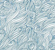 Waves and clouds. Seamless abstract pattern by msOctopus