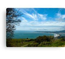 Stinson Beach CA under blue skies Canvas Print