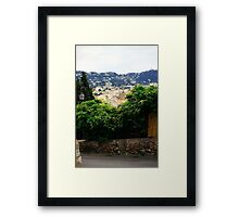 cannes city view scenery Framed Print