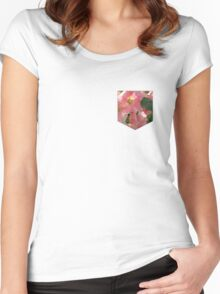Flower Pocket 1 Women's Fitted Scoop T-Shirt